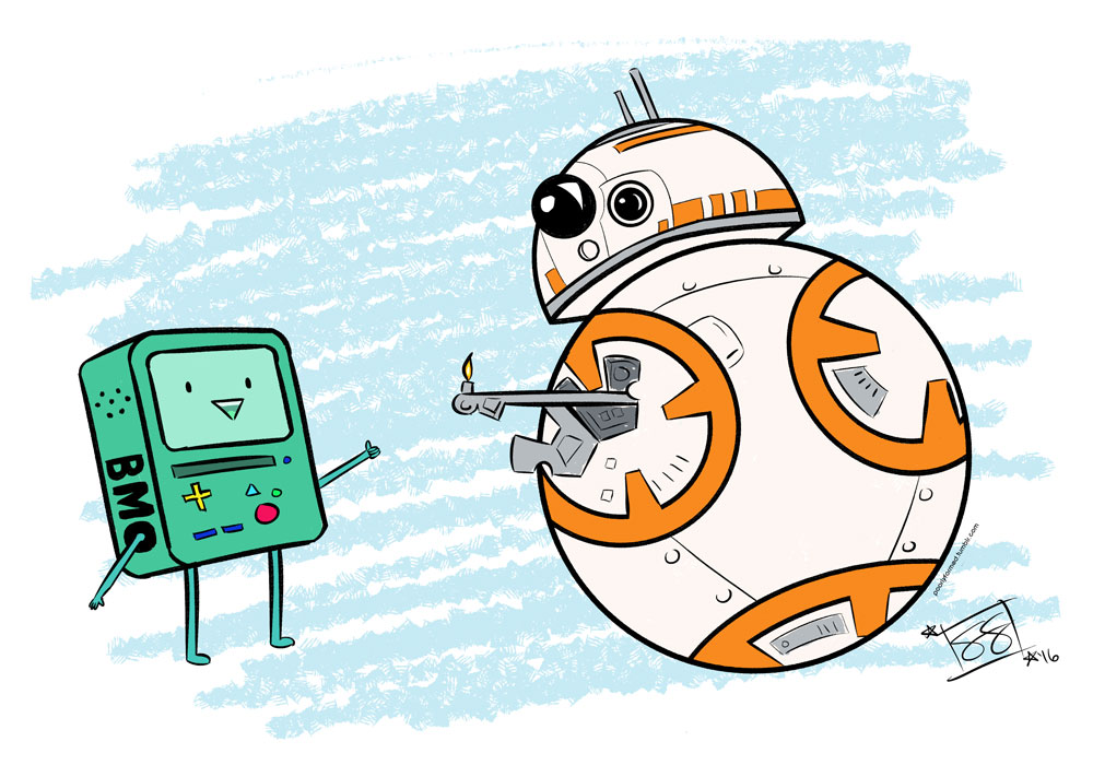 BMO and BB-8