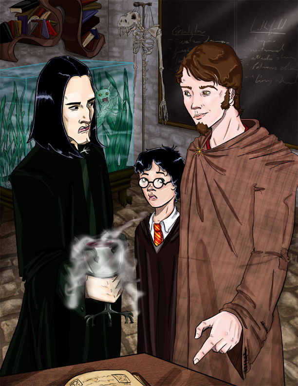 Severus Snape, Harry Potter, and Remus Lupin